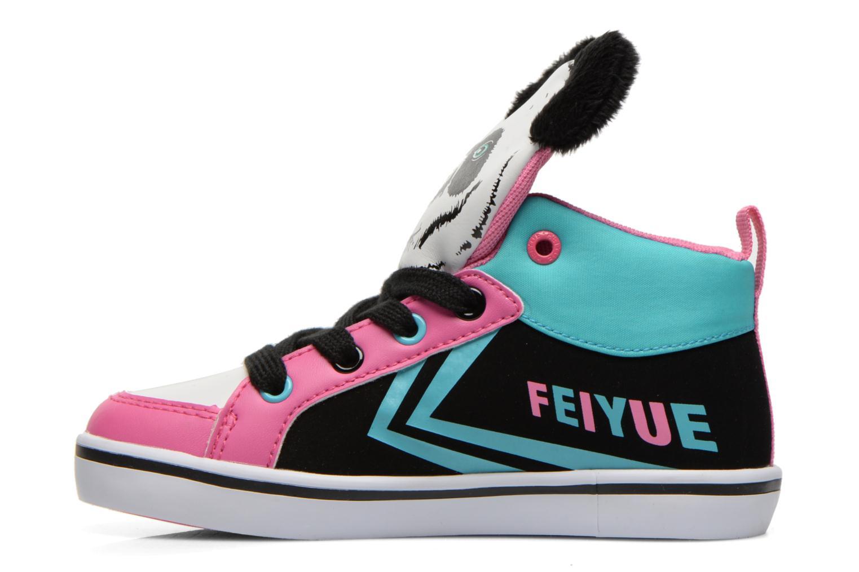 Sneaker Feiyue Delta Mid Animal 2 schwarz ansicht von vorne