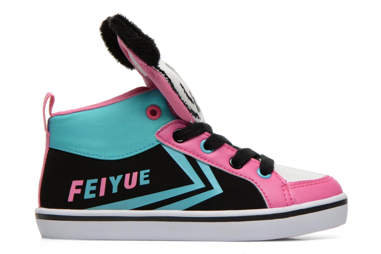 Sneaker Feiyue Delta Mid Animal 2 schwarz ansicht von hinten