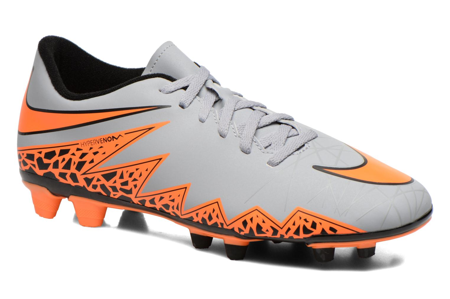 Hypervenom Phade II Fg Wolf Grey/Total Orange-Blk-Blk