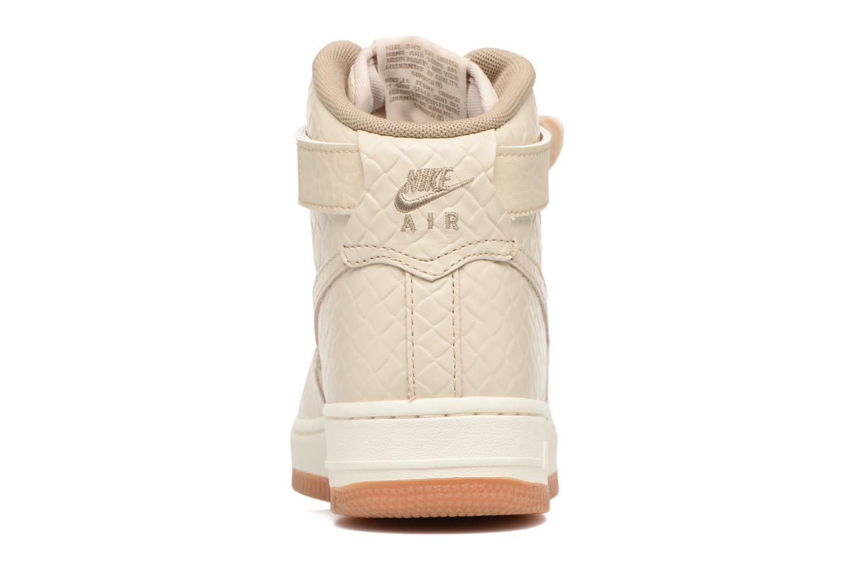 Baskets Nike Wmns Air Force 1 Hi Prm Beige vue droite