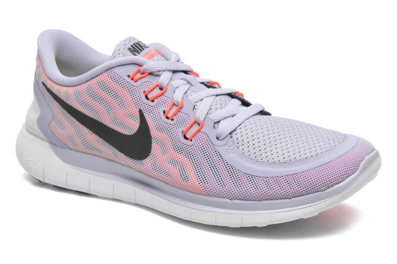 Wmns Nike Free 5.0 Titanium/Black-Fchs Flsh-Ht Lv