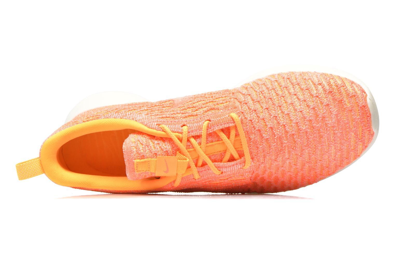 Sneaker Nike Wmns Roshe One Flyknit orange ansicht von links