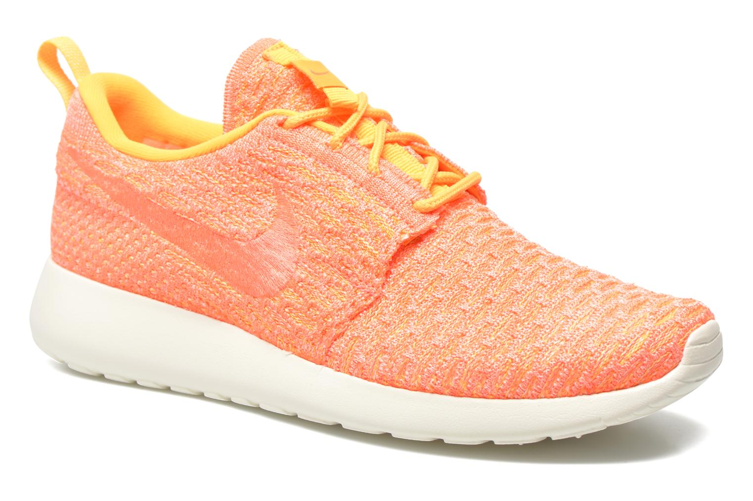 Wmns Roshe One Flyknit Laser Orange/Bright Mango-Sail