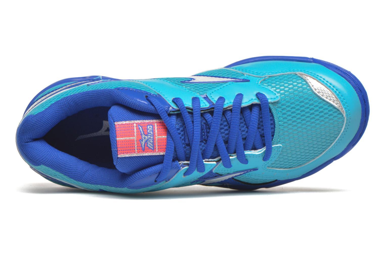 Sportschuhe Mizuno Wave Twister 4 W blau ansicht von links