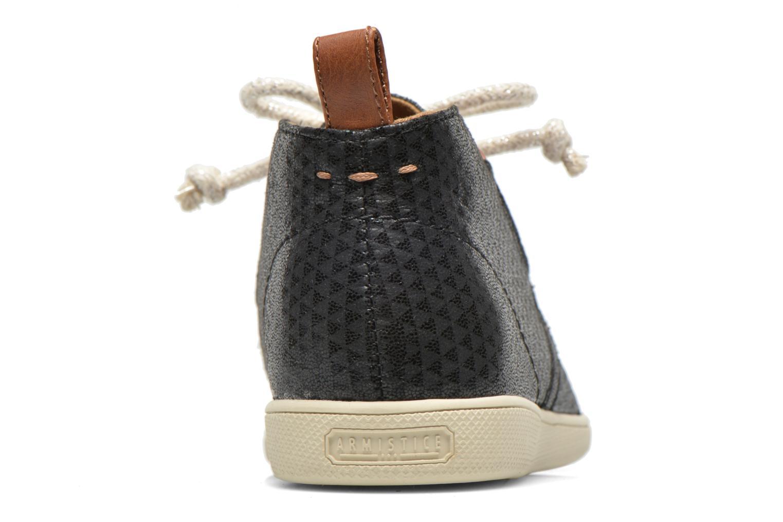 Chaussures à lacets Armistice Stone Mid Cut W Noir vue droite