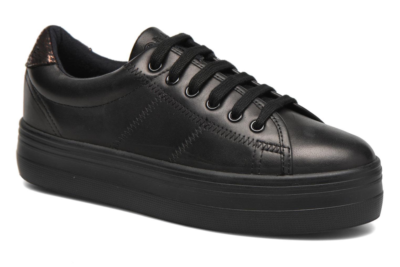 Sneakers No Name Plato Sneaker Nappa Zwart detail