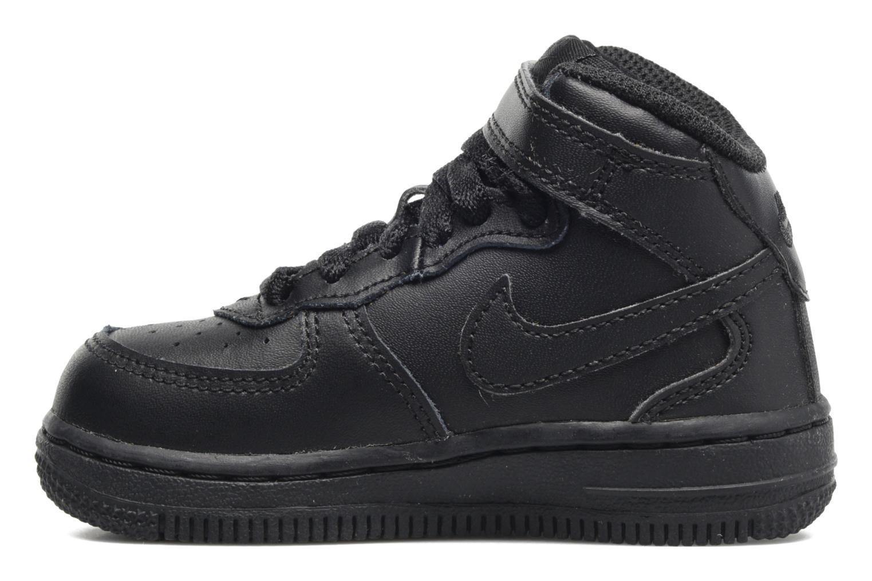 Sneaker Nike Air Force 1 Mid (TD) schwarz ansicht von vorne