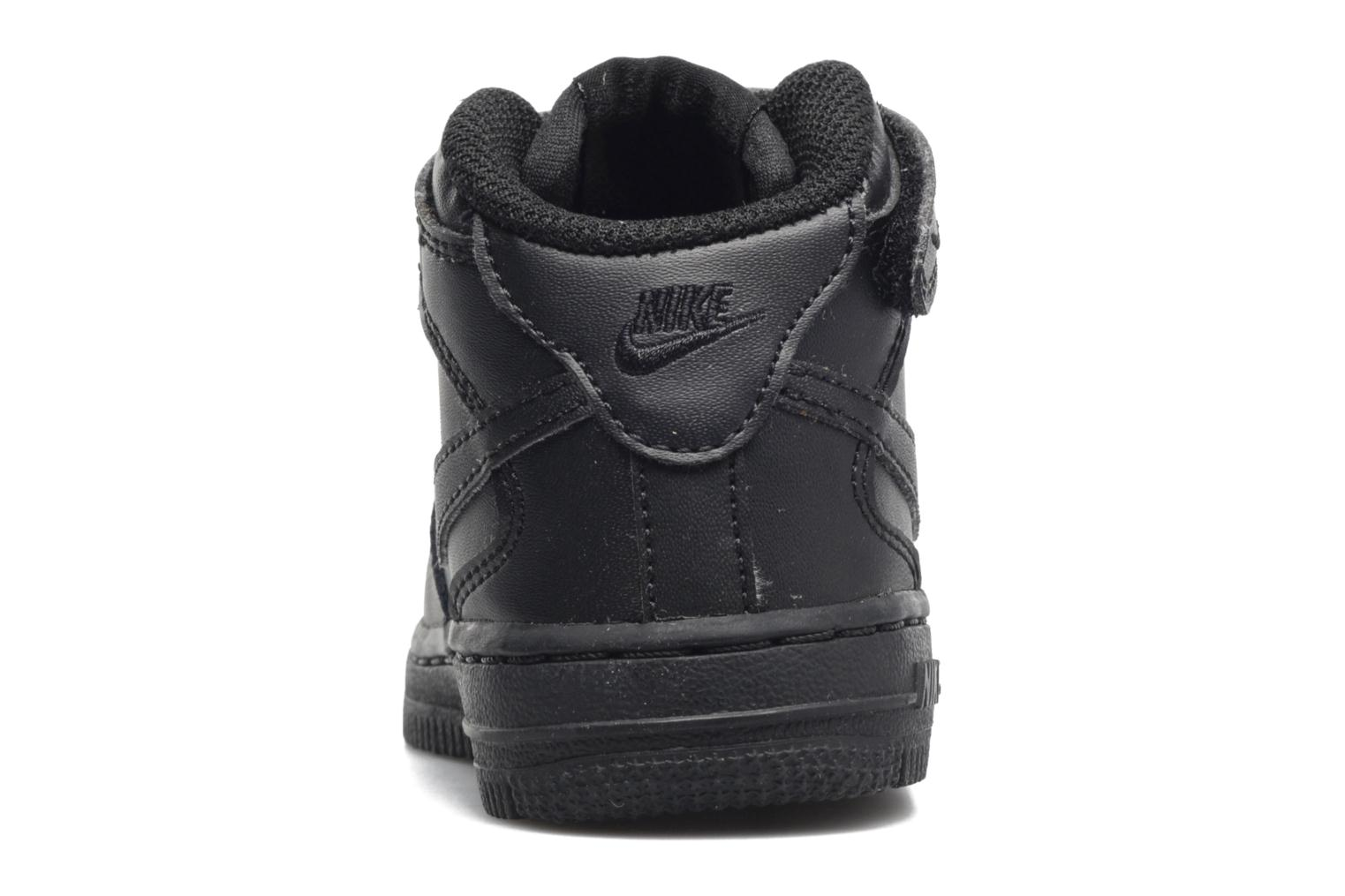 Trainers Nike Air Force 1 Mid (TD) Black view from the right
