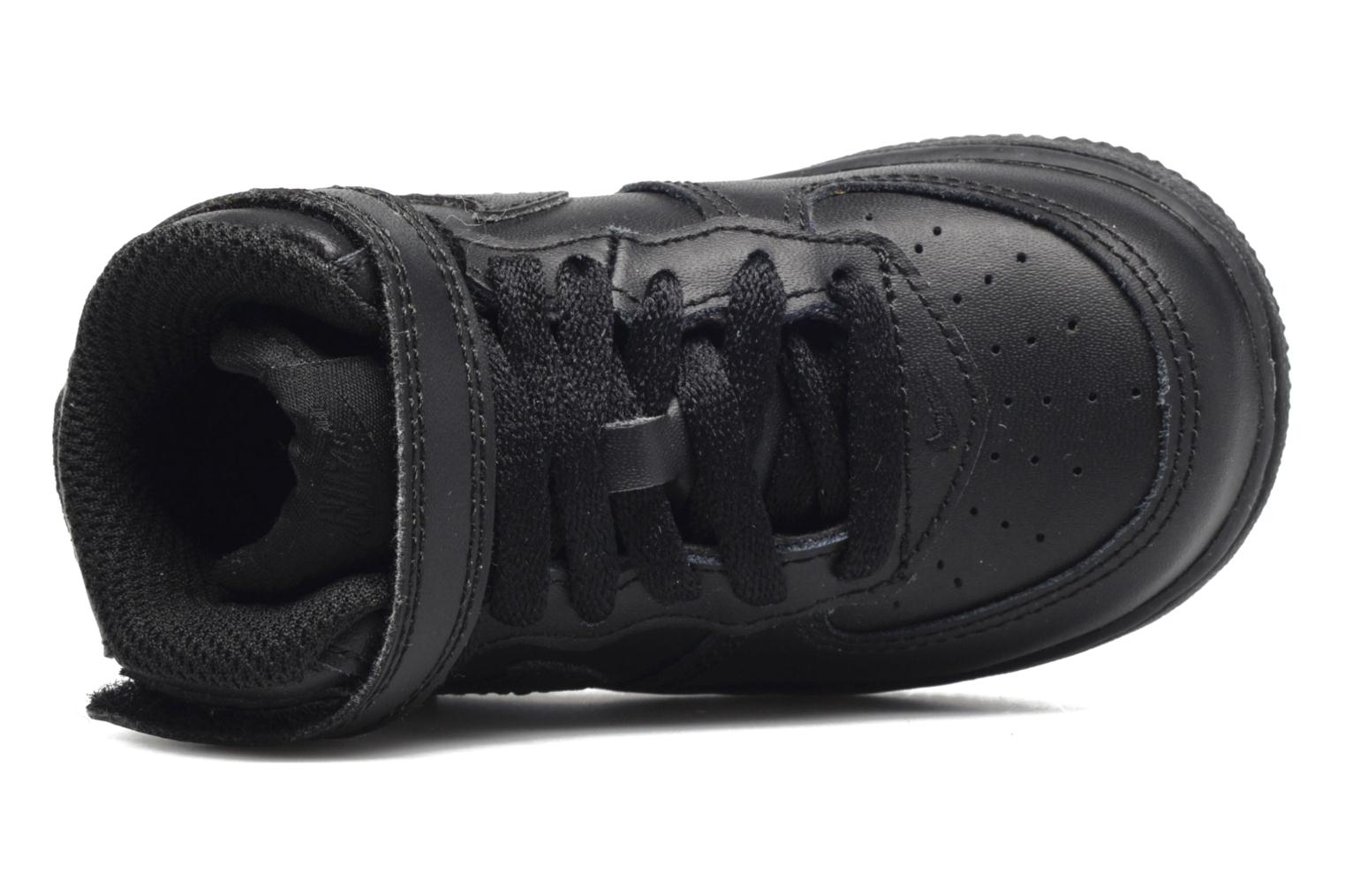Trainers Nike Air Force 1 Mid (TD) Black view from the left