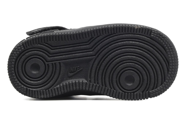 Sneaker Nike Air Force 1 Mid (TD) schwarz ansicht von oben