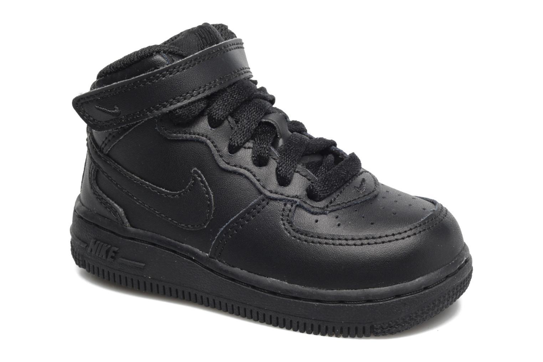 Baskets Nike Air Force 1 Mid (TD) Noir vue détail/paire