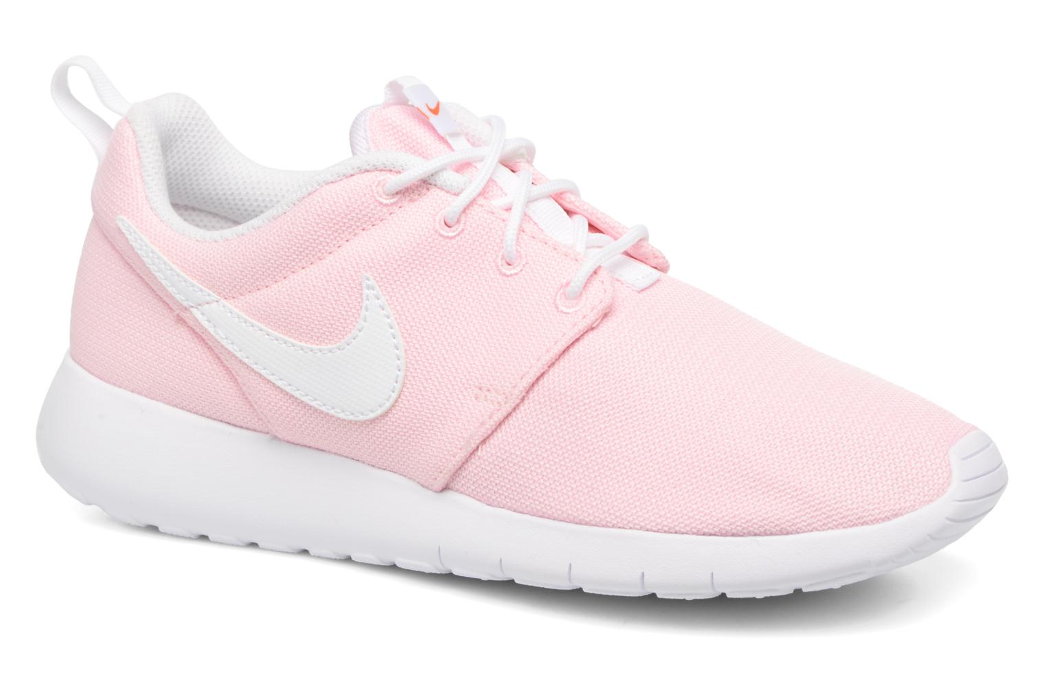 Baskets Nike NIKE ROSHE ONE (GS) Rose vue détail/paire
