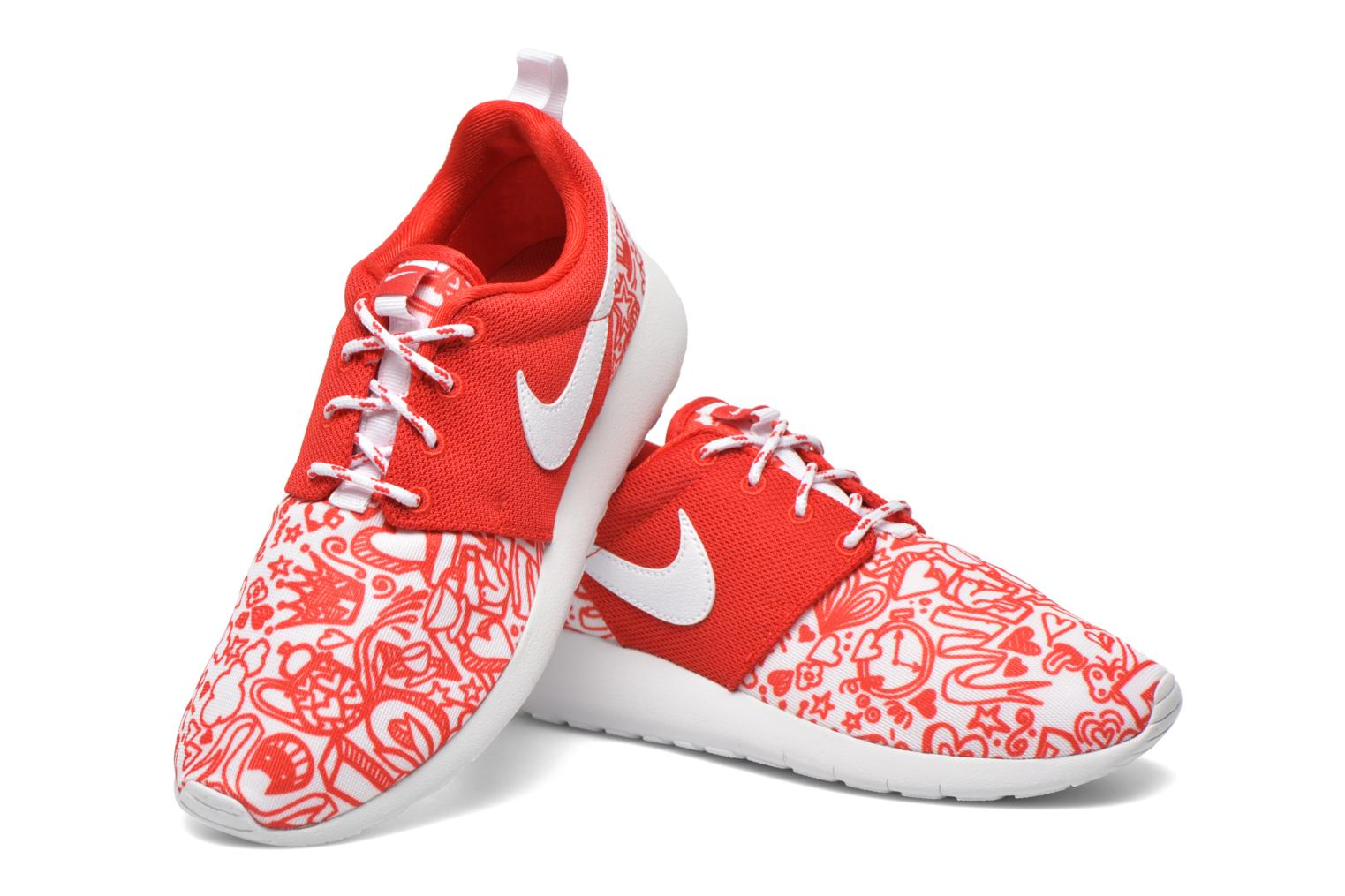 Baskets Nike NIKE ROSHE ONE PRINT (GS) Rouge vue 3/4