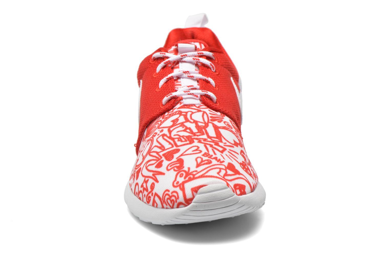 Sneaker Nike NIKE ROSHE ONE PRINT (GS) rot schuhe getragen