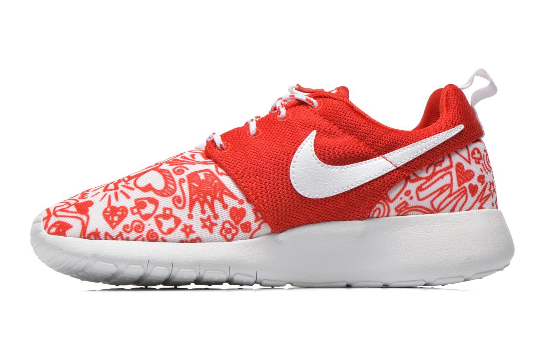Sneaker Nike NIKE ROSHE ONE PRINT (GS) rot ansicht von vorne