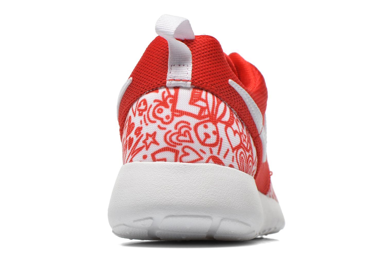 Sneaker Nike NIKE ROSHE ONE PRINT (GS) rot ansicht von rechts