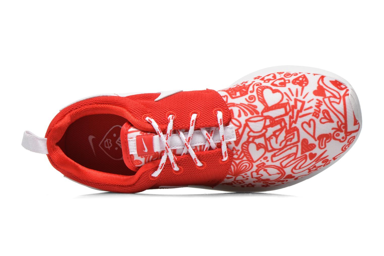 Sneaker Nike NIKE ROSHE ONE PRINT (GS) rot ansicht von links