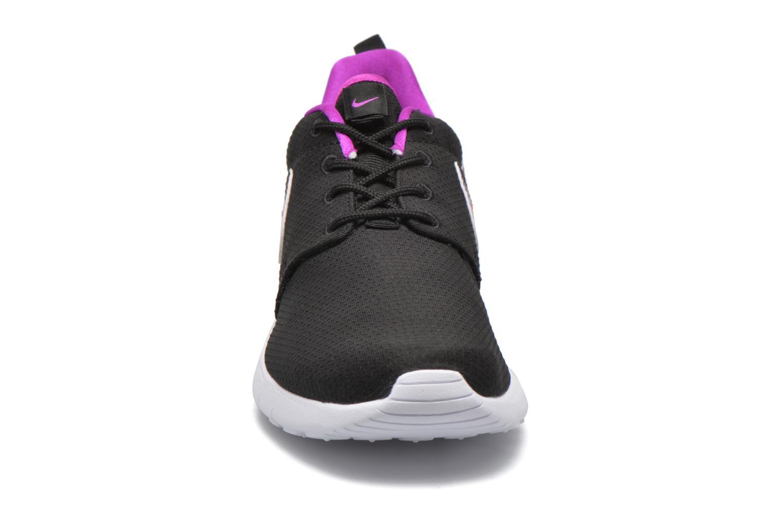 NIKE ROSHE ONE PRINT (GS) Black/Hyper Violet-Hyper Violet-White