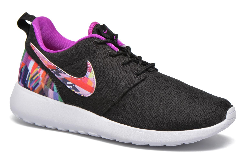 Baskets Nike NIKE ROSHE ONE PRINT (GS) Noir vue détail/paire