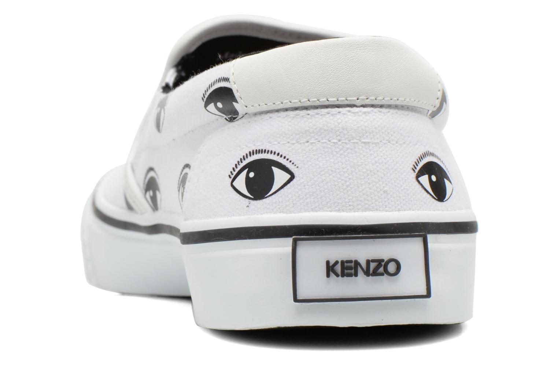 Baskets Kenzo Velvet Blanc vue droite