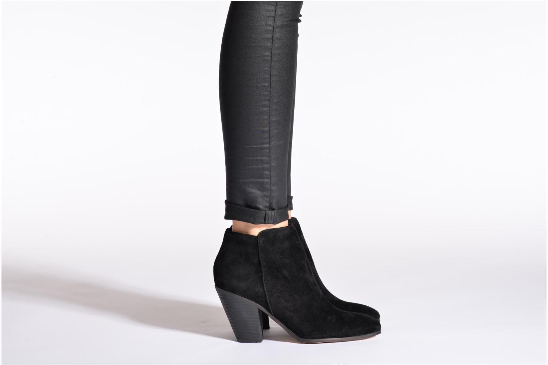 Bottines et boots Buffalo Blafen Noir vue bas / vue portée sac