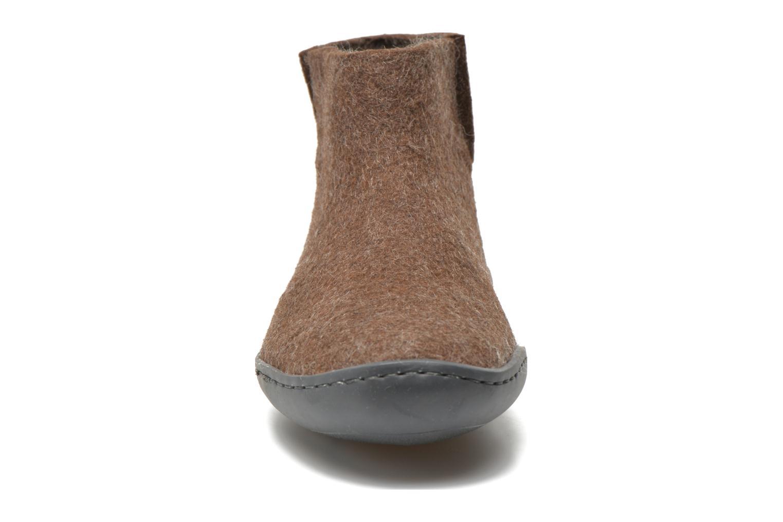 Pantoffels Glerups Poras Gomme W Bruin model
