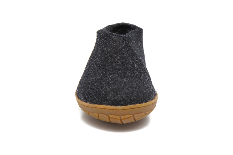Chaussons Glerups Porter Gomme W Noir vue portées chaussures