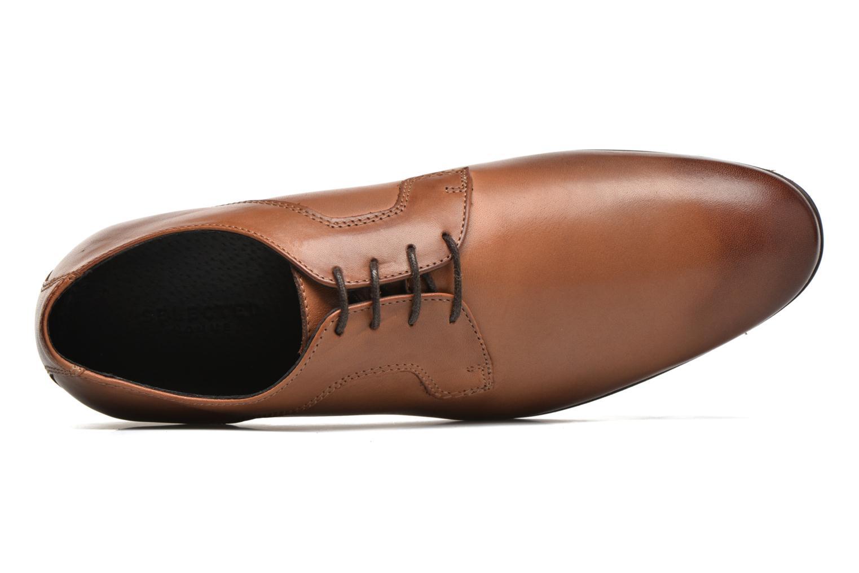 Chaussures à lacets Selected Homme Sel Latin Marron vue gauche