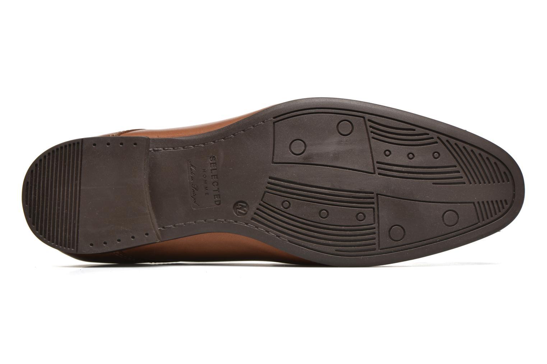 Chaussures à lacets Selected Homme Sel Latin Marron vue haut