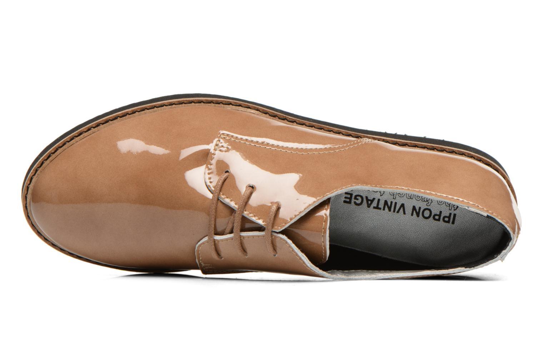 Chaussures à lacets Ippon Vintage James gloss Beige vue gauche