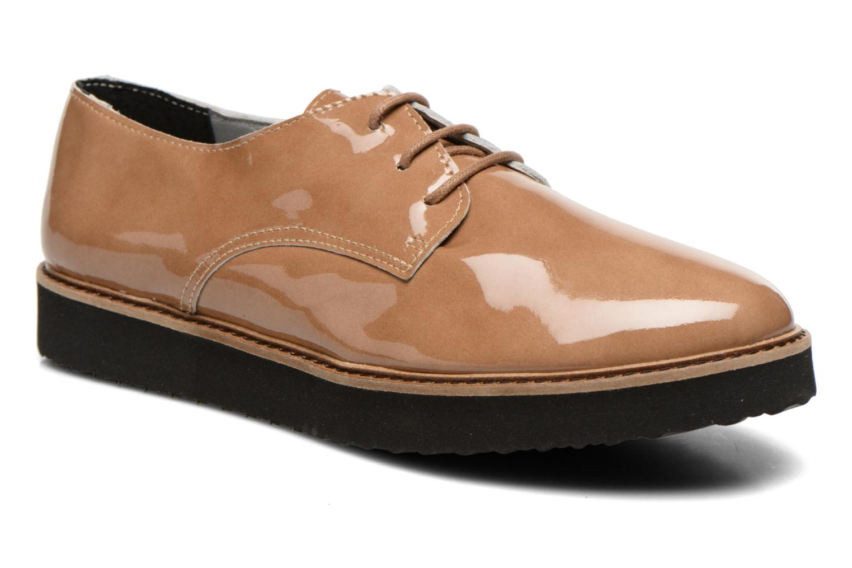 Chaussures à lacets Ippon Vintage James gloss Beige vue détail/paire