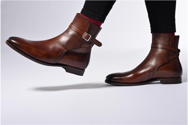 Bottines et boots Marvin&Co Luxe Wetrok - Cousu Goodyear Noir vue bas / vue portée sac