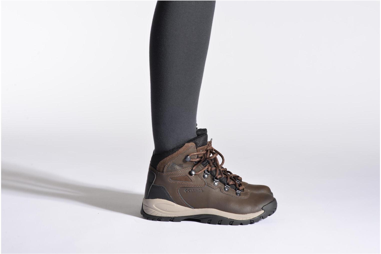 Chaussures de sport Columbia Newton Ridge Plus II Waterproof W Marron vue bas / vue portée sac