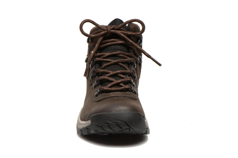 Chaussures de sport Columbia Newton Ridge Plus II Waterproof W Marron vue portées chaussures