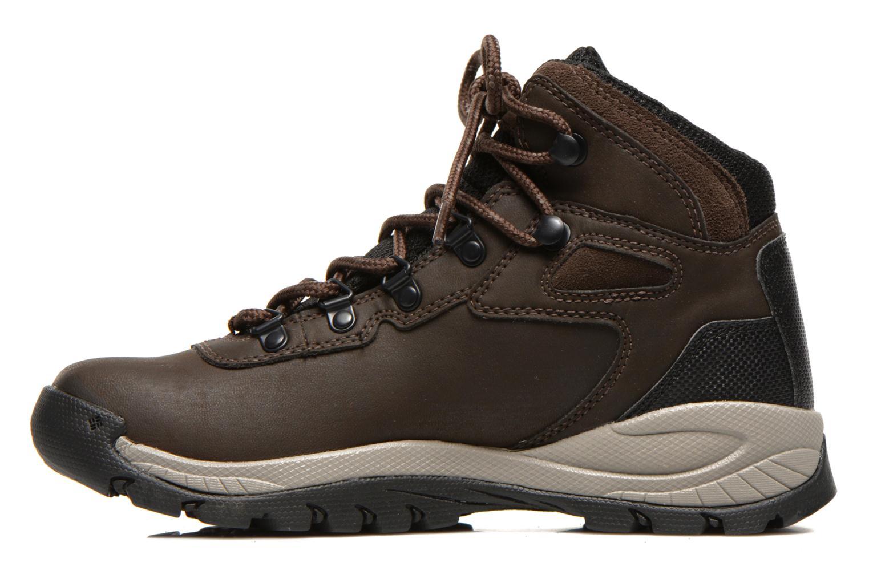 Chaussures de sport Columbia Newton Ridge Plus II Waterproof W Marron vue face