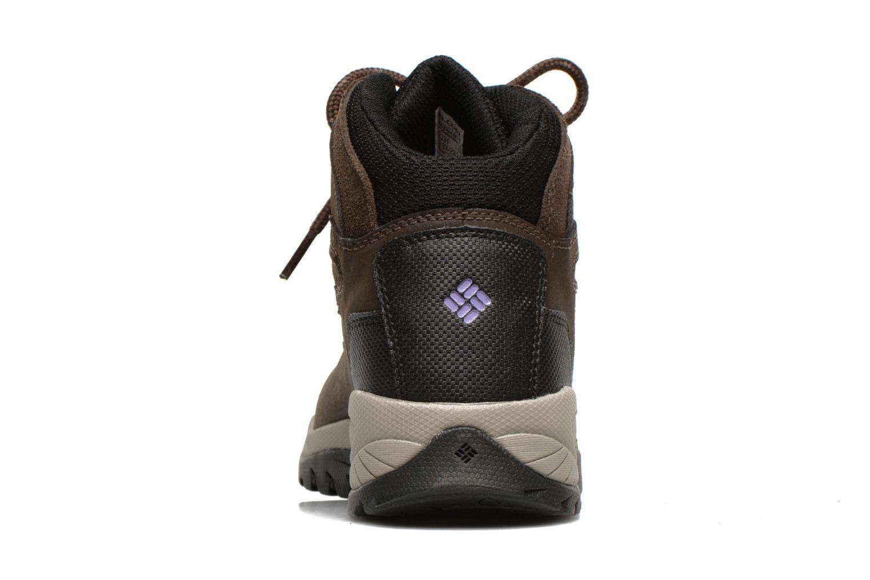 Chaussures de sport Columbia Newton Ridge Plus II Waterproof W Marron vue droite