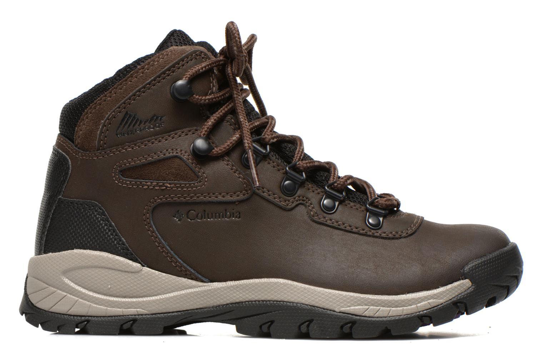 Chaussures de sport Columbia Newton Ridge Plus II Waterproof W Marron vue derrière