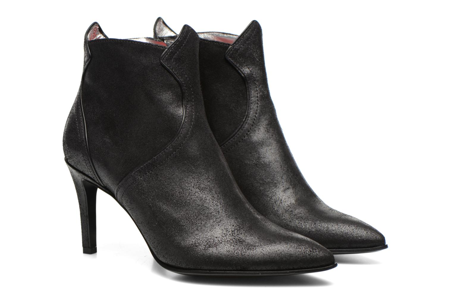Elya 7 west zip boot Vaquero noir