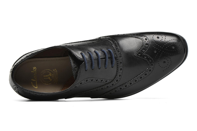 Chaussures à lacets Clarks Banfield Limit Noir vue gauche