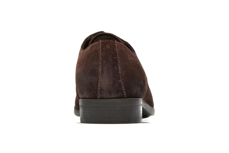 Chaussures à lacets Clarks Banfield Walk Marron vue droite