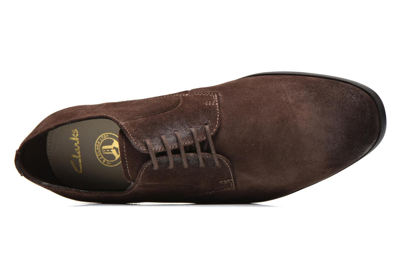 Chaussures à lacets Clarks Banfield Walk Marron vue gauche