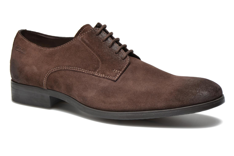 Chaussures à lacets Clarks Banfield Walk Marron vue détail/paire