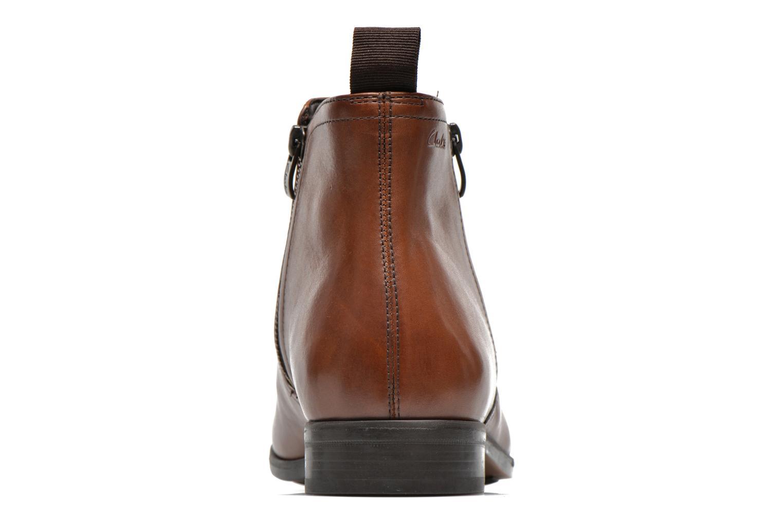 Bottines et boots Clarks Banfield Zip Marron vue droite