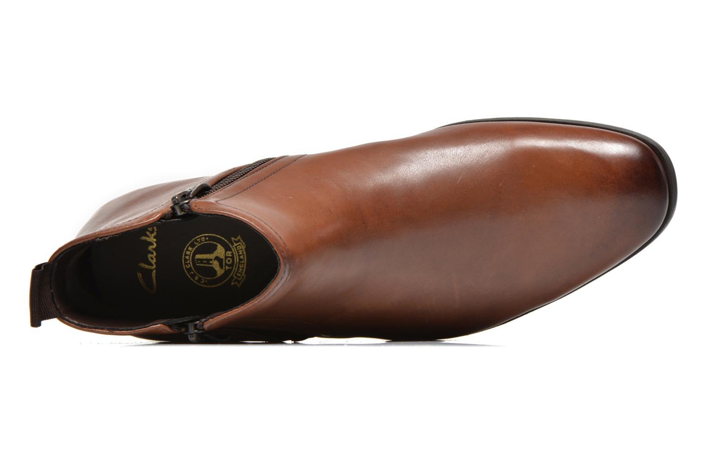 Bottines et boots Clarks Banfield Zip Marron vue gauche