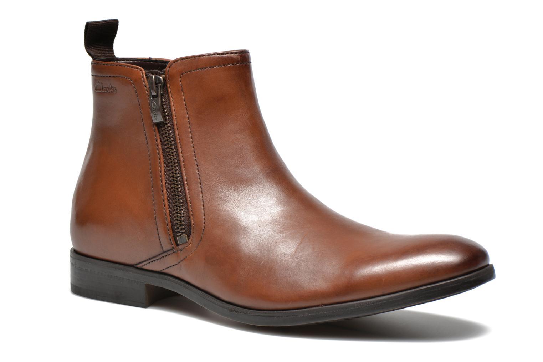 Bottines et boots Clarks Banfield Zip Marron vue détail/paire
