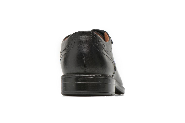 Scarpe con lacci Clarks Chilver Walk GTX Nero immagine destra