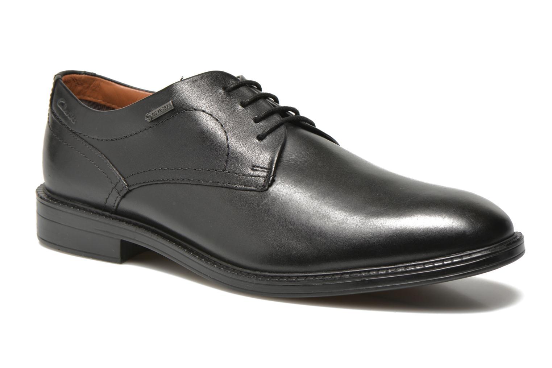 Chaussures à lacets Clarks Chilver Walk GTX Noir vue détail/paire