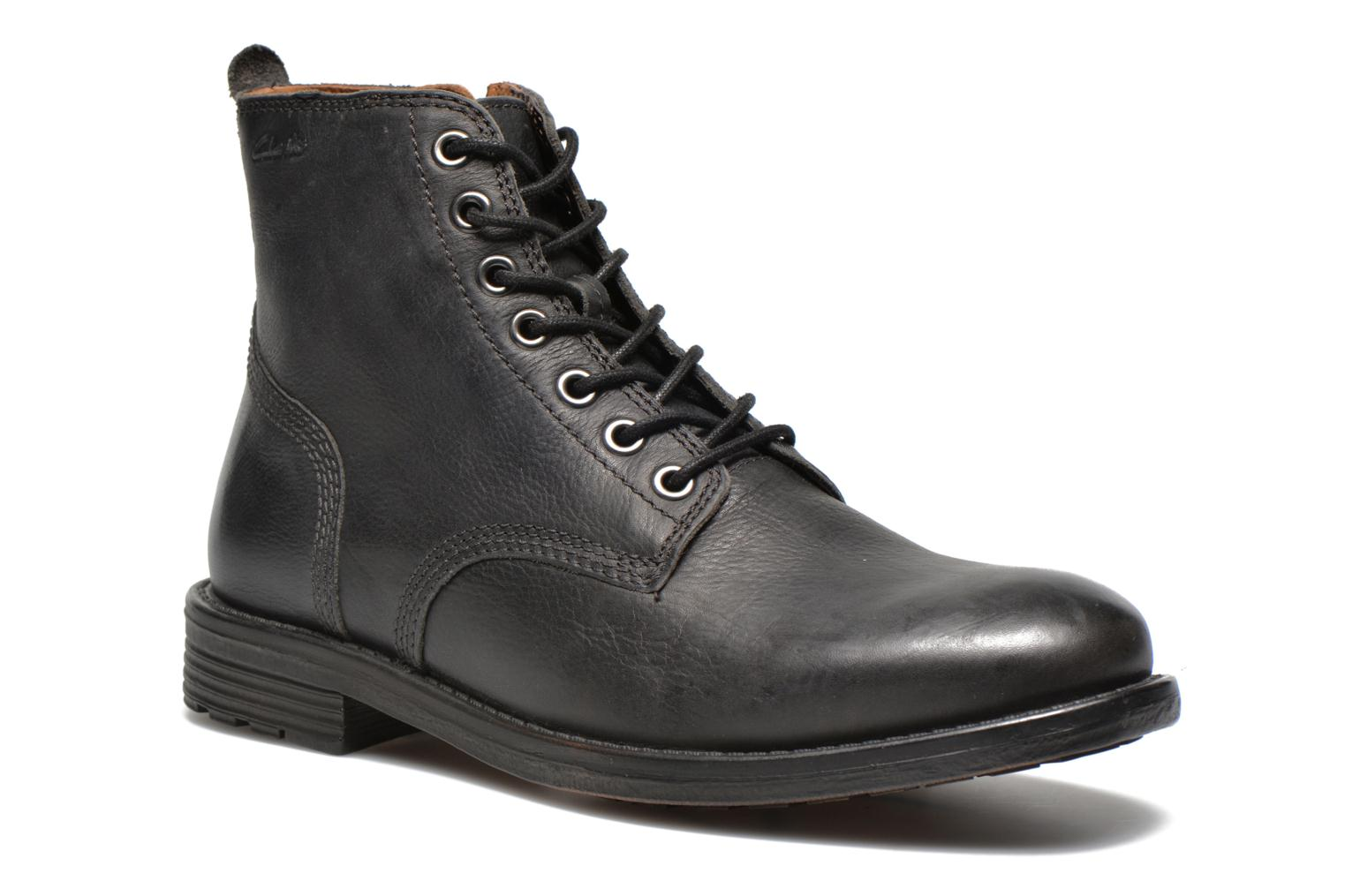 Ankle boots Clarks Faulkner Rise Black detailed view/ Pair view