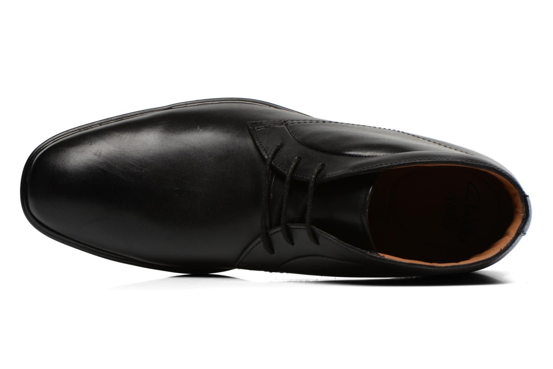 Chaussures à lacets Clarks Gosworth Hi Noir vue gauche