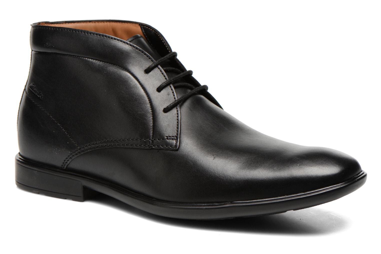 Chaussures à lacets Clarks Gosworth Hi Noir vue détail/paire